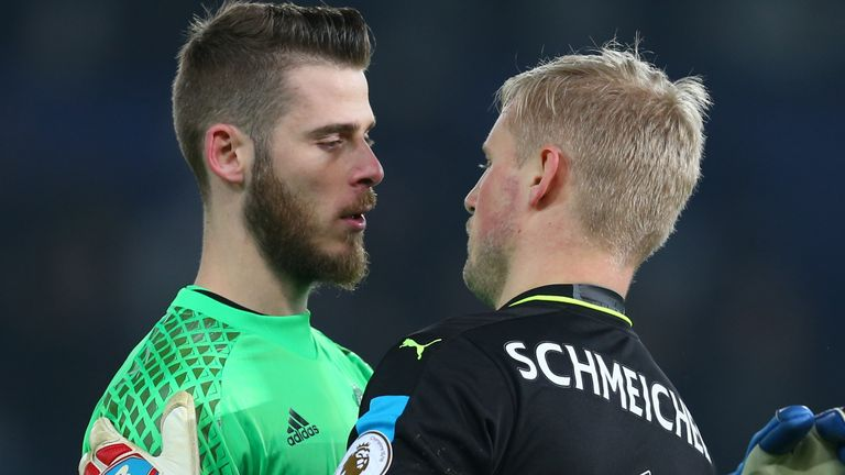 Manchester United are weighing up a shock move for Kasper Schmeichel to replace David de Gea