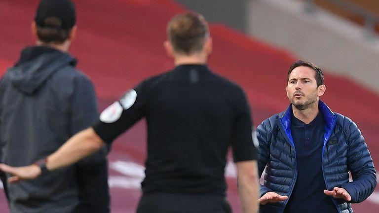 La fila retumba después de que Frank Lampard chocara con el banco de Liverpool el miércoles.