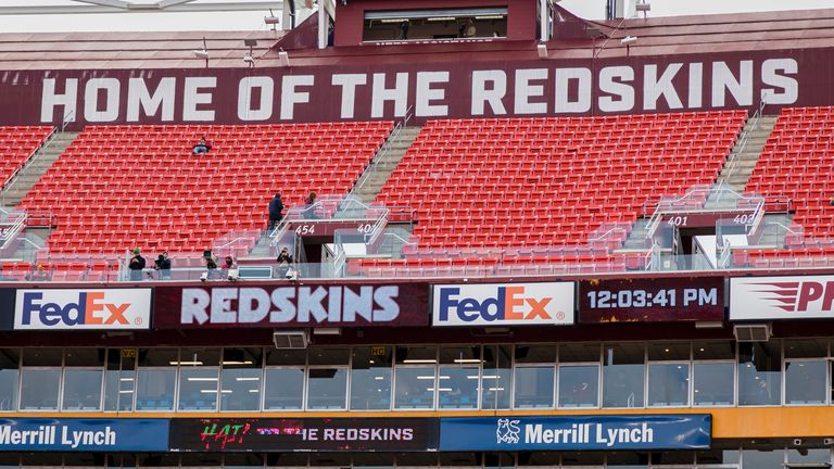 A general view of FedExField in Landover, Maryland