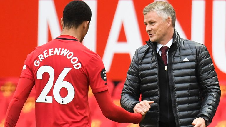 Mason Greenwood scored twice for Manchester United against Bournemouth