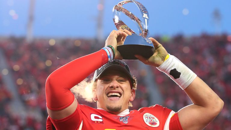 Mahomes helped deliver the Chiefs' first Lamar Hunt trophy, which is named after the team's founder, with victory in the AFC Championship game