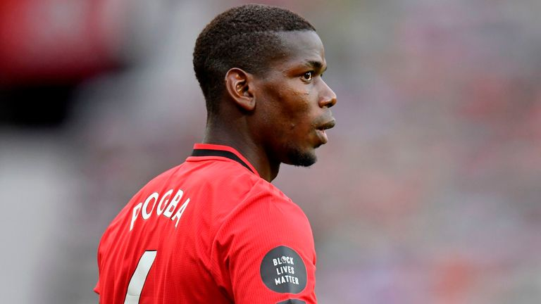 Paul Pogba has featured in every Premier League game since the restart