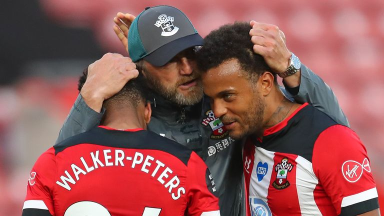 Ralph Hasenhuttl admits the drinks breaks helped Southampton secure victory over Manchester City on Sunday