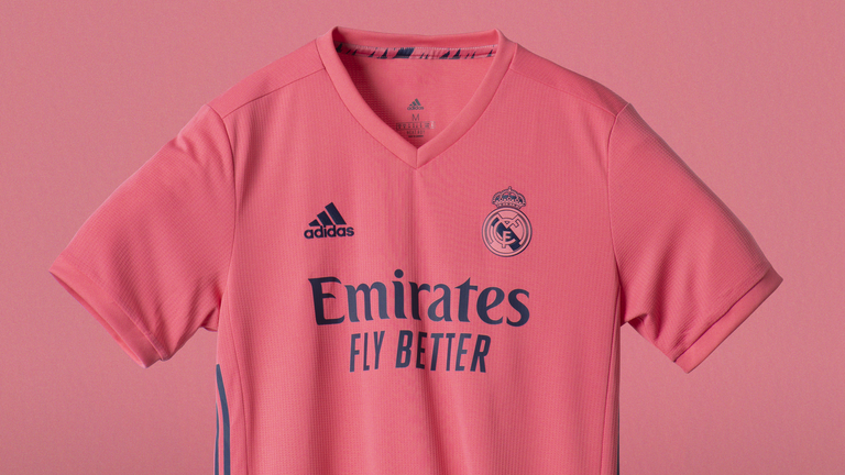 Real Madrid's new pink away kit, designed by adidas