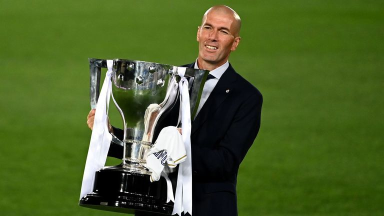 Zidane celebrates his second La Liga title as Real boss