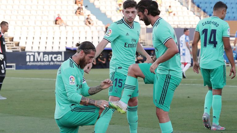 Sergio Ramos (left) got Real's opener