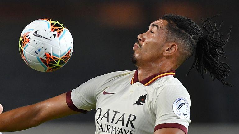 Chris Smalling was on target for Roma in their 3-2 win over Torino on Wednesday