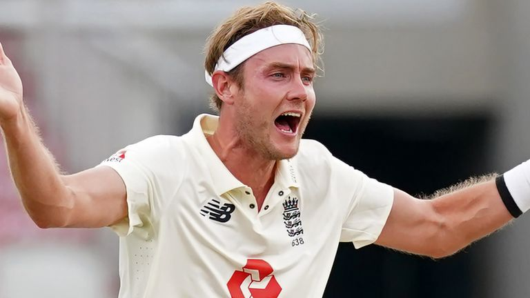Despite being dropped for the first Test, Stuart Broad finished as the leading wicket-taker for the series against West Indies, with 16 at an average of 10.93