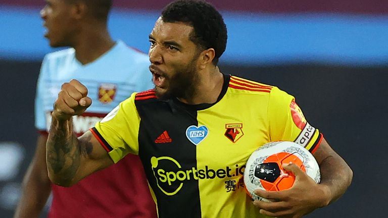 Tottenham have been offered the chance to sign Watford striker Troy Deeney