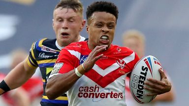 Regan Grace was in scintillating form for St Helens against Leeds
