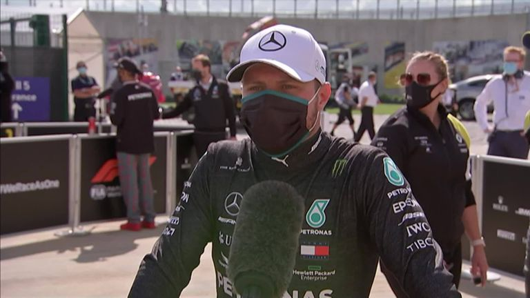Valtteri Bottas on where it all went wrong for the Mercedes driver with three laps to go.