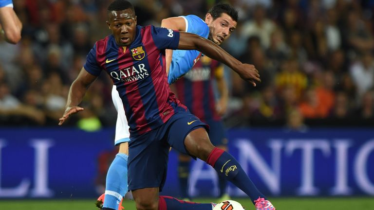 Traore broke into the Barcelona first-team at 17 behind the frontline of Lionel Messi, Luis Suarez and Neymar
