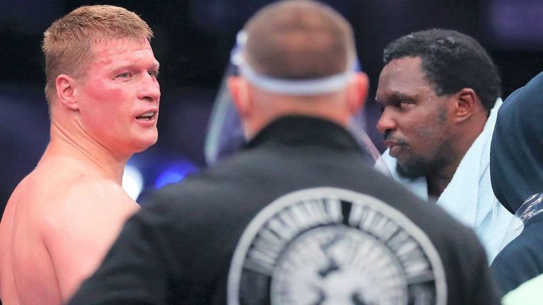 Dillian Whyte suffered a fifth-round knockout loss to Alexander Povetkin