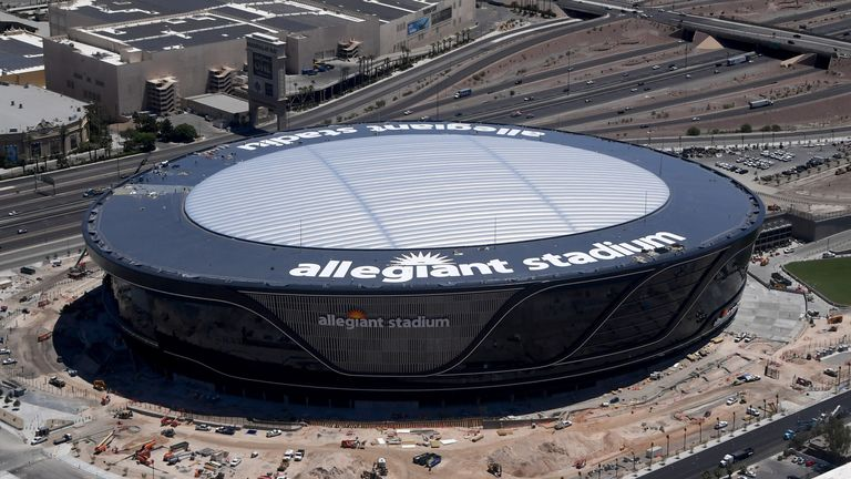 Las Vegas Raiders will play without fans in their new Allegiant Stadium