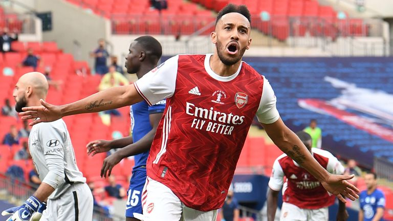 Pierre-Emerick Aubameyang's double sealed Arsenal's record 14th FA Cup final victory