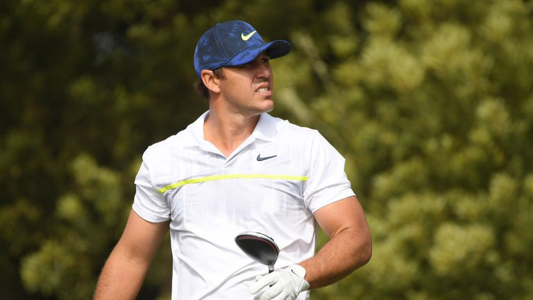 Brooks Koepka suffered an injury scare during his second round