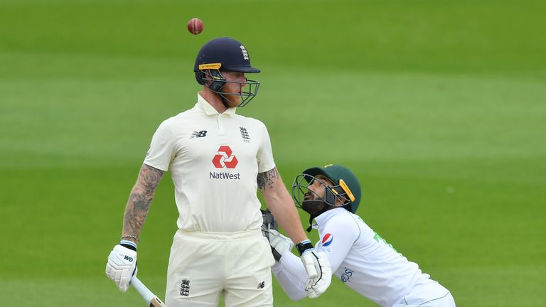 Stokes was caught by wicketkeeper Mohammad Rizwan for just nine during the second innings at Old Trafford