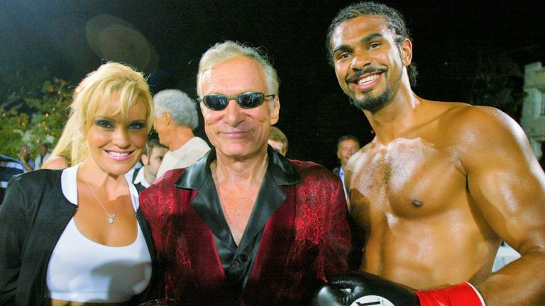 Haye had displayed his knockout power to Playboy boss Hugh Hefner