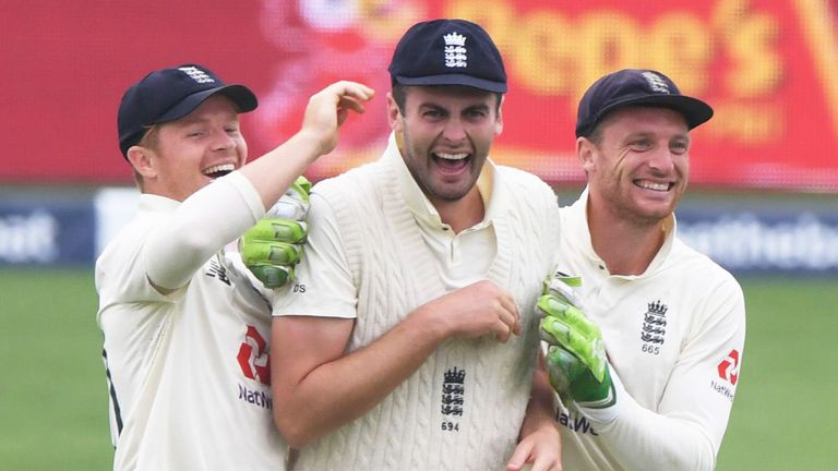 Enjoying the moment with Dom and Jos Buttler