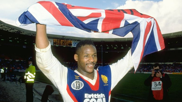 Ellery Hanley captained Great Britain and later became the first black head coach of a major national team in this country