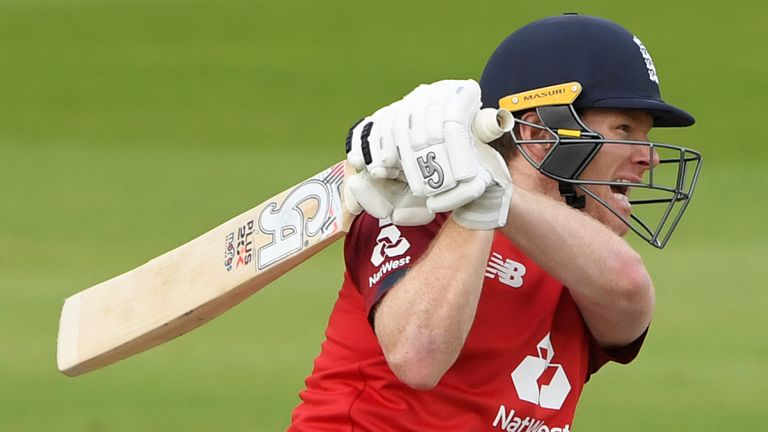 Check out the best shots from England captain Morgan's 27-ball half-century in the second T20I against Pakistan.