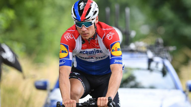 Fabio Jakobsen crashed at the finish line on stage one of the Tour de Pologne