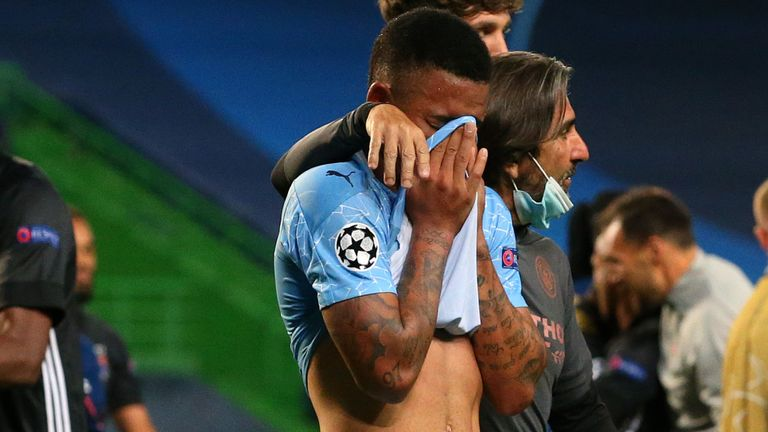 Two late goals knocked Manchester City out of the Champions League at the quarter-final stage for the third straight season