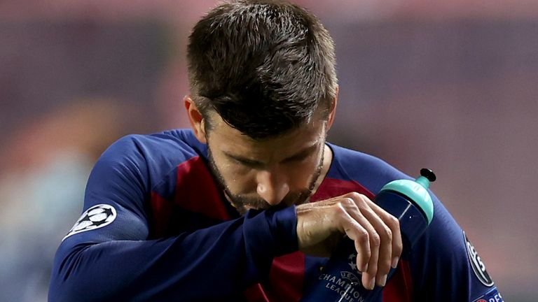 Gerard Pique after Barcelona's loss to Bayern