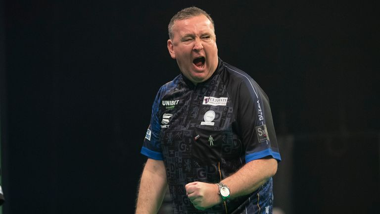 Glen Durrant produced a dominant display to see off Michael van Gerwen and go top of the Premier League on Wednesday night