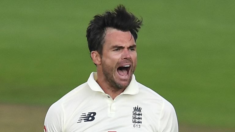 James Anderson took two wickets on day one of the second Test against Pakistan