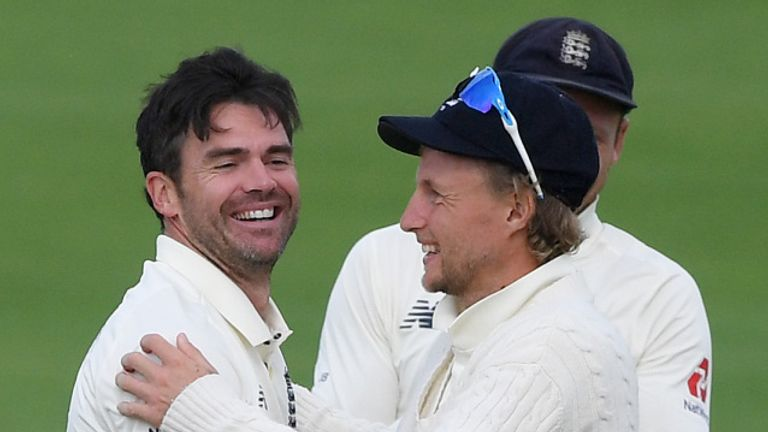 England captain Joe Root says Anderson is a credit to his country after becoming the first seamer to 600 Test wickets