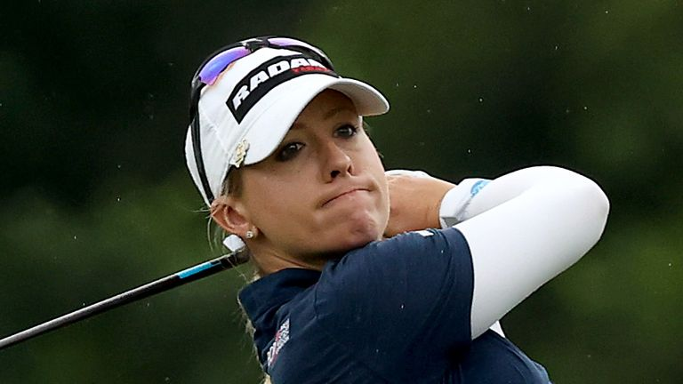 Jodi Ewart Shadoff is in a three-way lead going into the final round of the Drive On championship