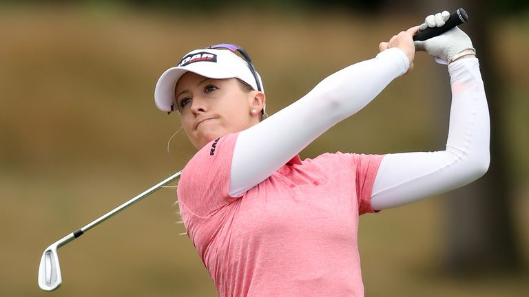 Jodi Ewart Shadoff dropped out of contention on the back nine