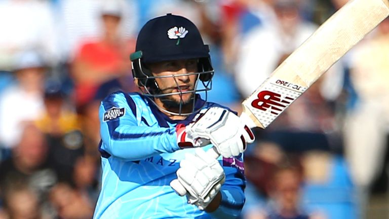 Joe Root made 64 from 40 balls as Yorkshire thrashed Derbyshire