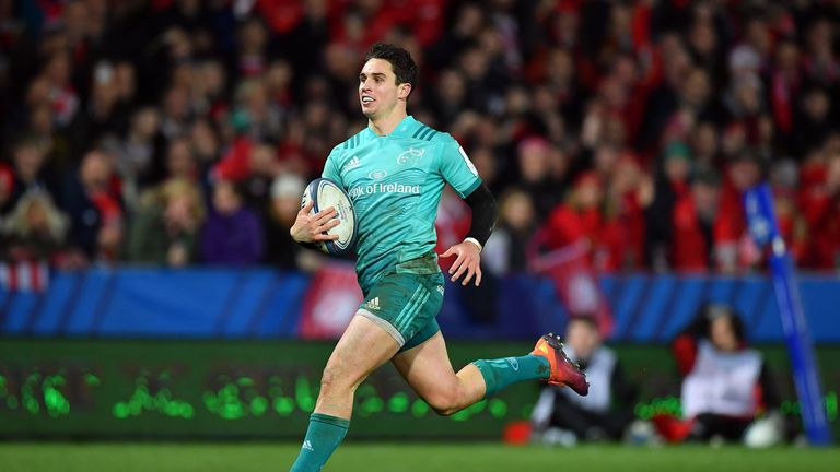 Carbery in action against for Munster against Gloucester in 2019