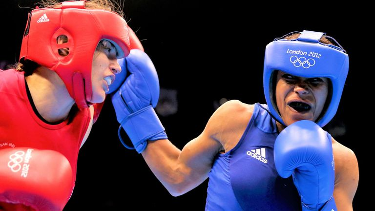Katie Taylor defeated Jonas in the quarter-finals of the London 2012 Games