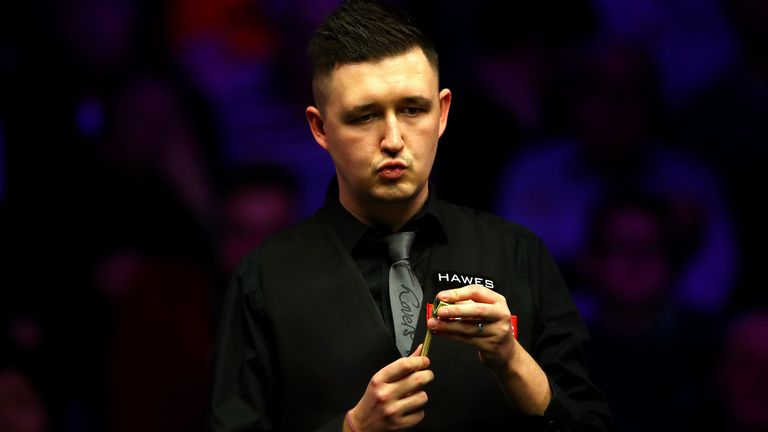 Kyren Wilson is level at 8-8 against Anthony McGill
