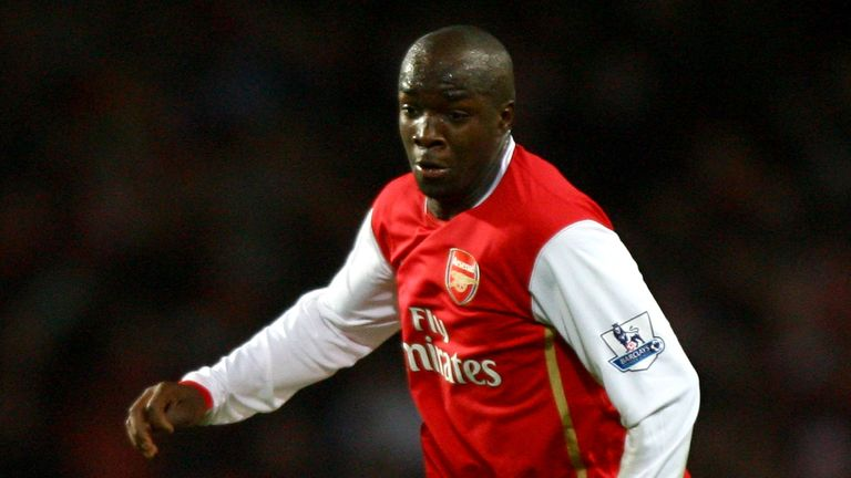 Lassana Diarra made just seven Premier League appearances in a five-month spell at Arsenal