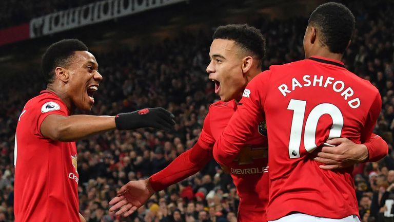 Anthony Martial, Mason Greenwood and Marcus Rashford scored 44 goals between them in the 2019/20 Premier League season
