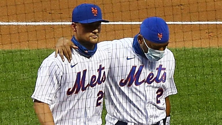 New York Mets and Miami Marlins playerssymbolically took the field in silence before filing off as part of protests at several US sporting events