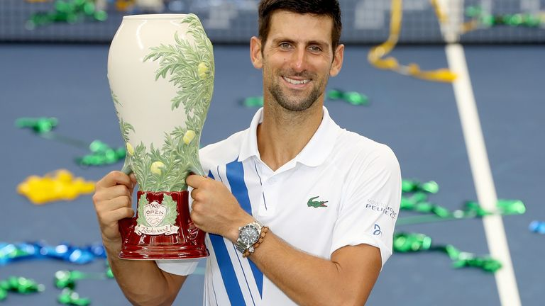 Novak Djokovic won his 35th Masters crown and 80th career title on Saturday