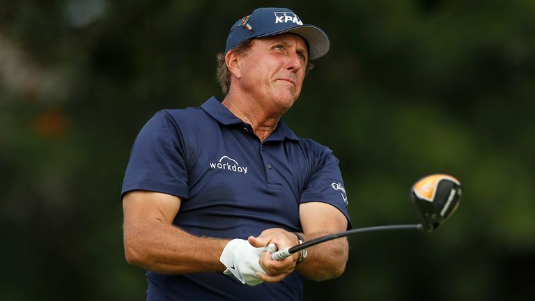 Mickelson is playing his first major since turning 50 in June