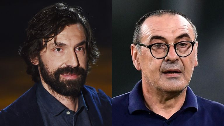 Andrea Pirlo was the shock replacement for Maurizio Sarri at Juventus