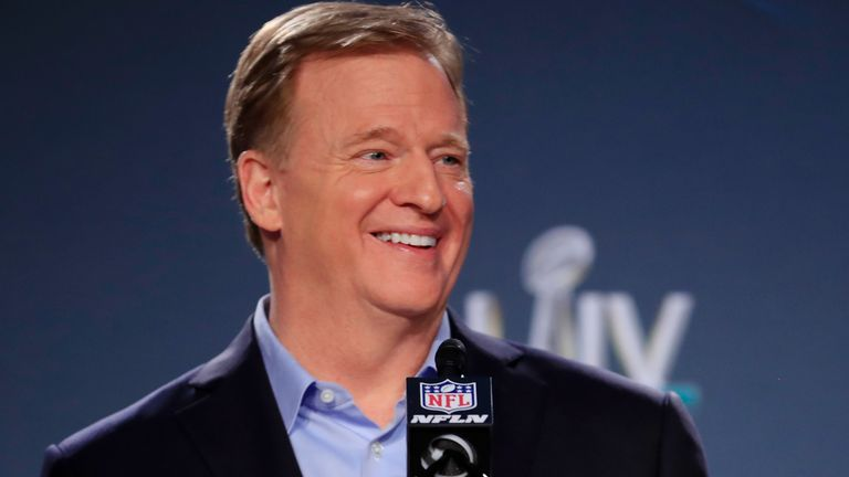 NFL Commissioner Roger Goodell says Sky Sports' new dedicated NFL channel is a mark of how far the game has come