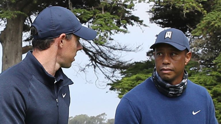 Woods's round was two better than Rory McIlroy's