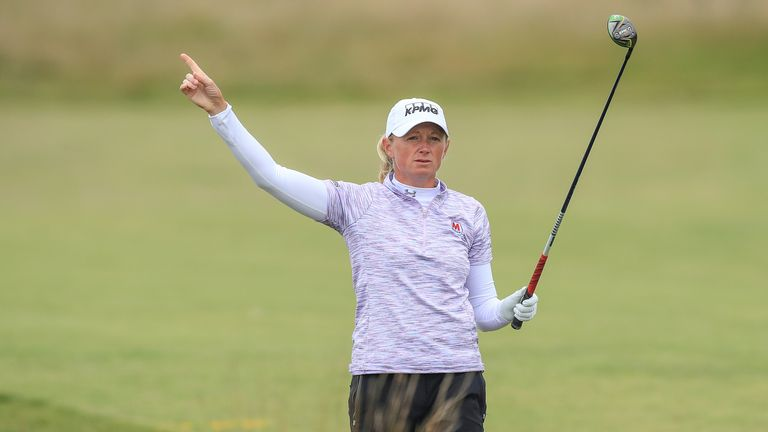 Stacy Lewis was unhappy with the pace of the group she was playing with