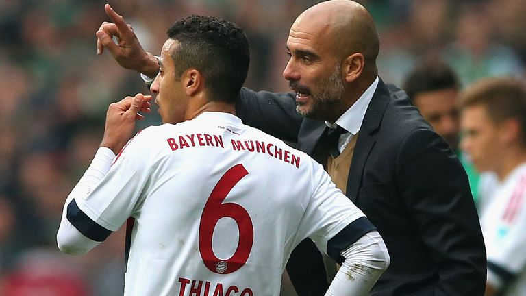 Guardiola signed Thiago in 2013 when he was Bayern Munich manager
