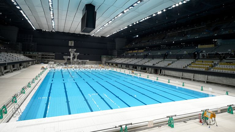 Activity in the Olympic Aquatics Centre in Tokyo this summer has been postponed until 2021 due to the pandemic