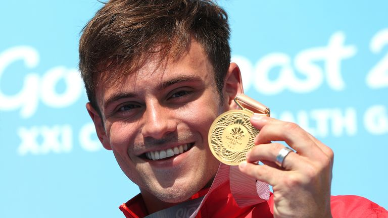 Tom Daley's haul of medals in international diving included 10m synchro gold at the 2018 Commonwealth Games