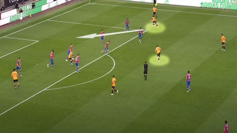 Doherty's run was the catalyst for Daniel Podence's goal against Palace